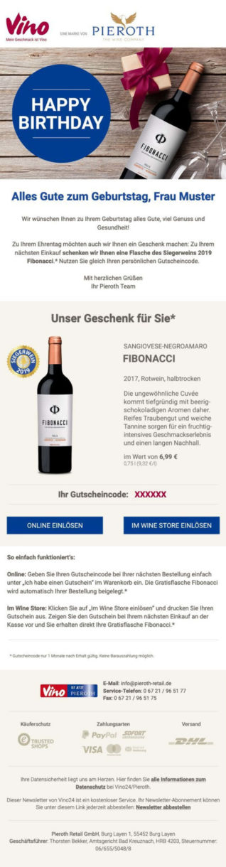 Referenzen Vino Newsletter 2