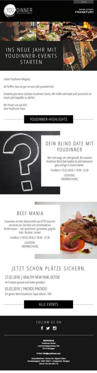Referenzen YouDinner Newsletter Frankfurt