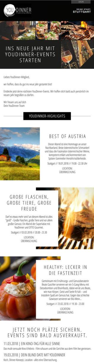 Referenzen YouDinner Newsletter Stuttgart
