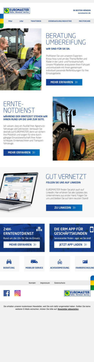 Referenzen Euromaster Newsletter 4