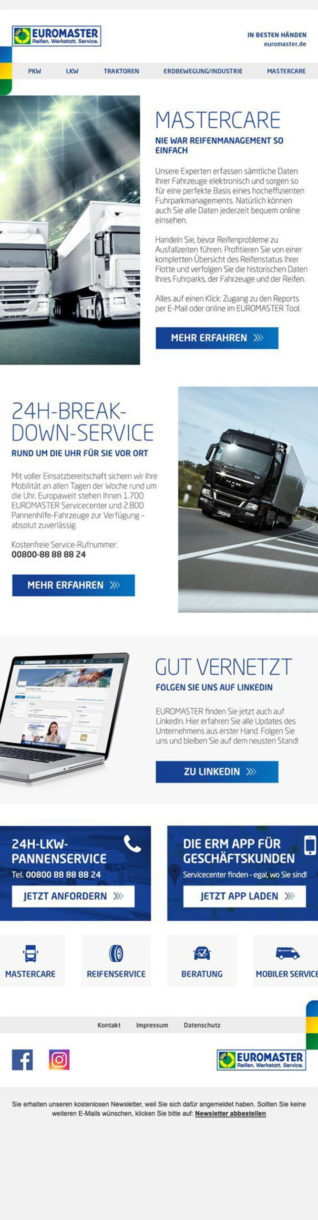 Referenzen Euromaster Newsletter 2
