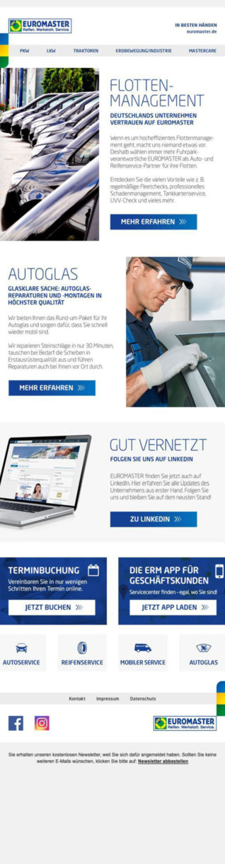 Referenzen Euromaster Newsletter 1
