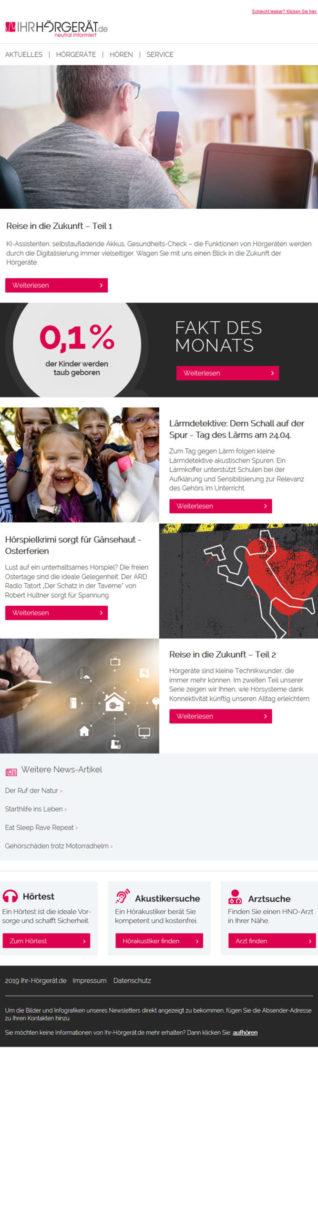 Referenzen Ihr-Hörgeröt.de Newsletter 5