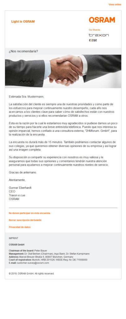 Referenzen OSRAM Newsletter 2