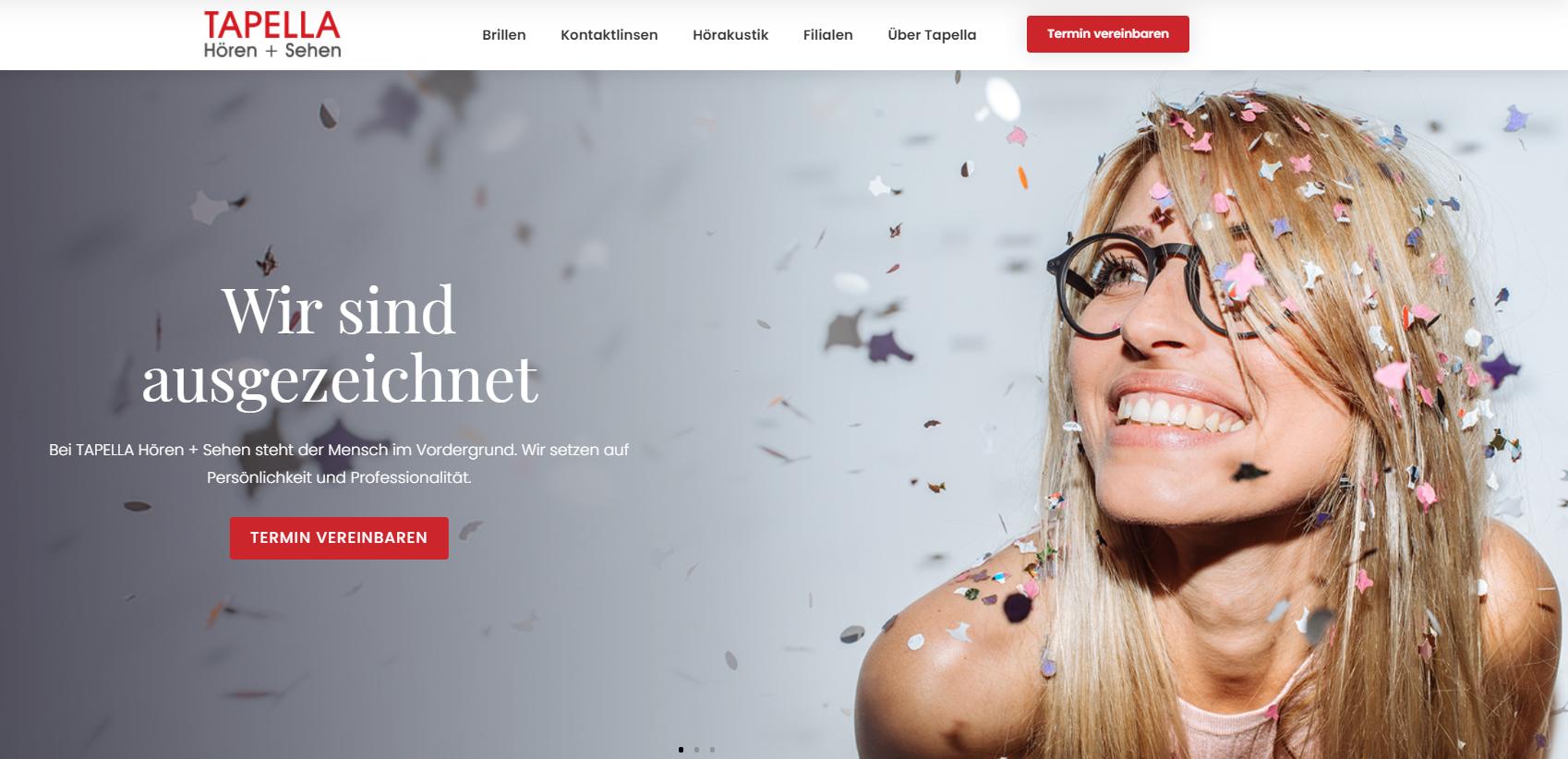 Tapella - Leadorientierte Marken-Website